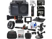 Vivitar DVR794HD 1080p HD Wi-Fi Waterproof Action Video Camera Camcorder (Black) with Remote, Helmet, Bike & Suction Cup Mounts + 32GB Card + Case + Power Bank 9SIA63G5846131