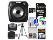 Fujifilm Instax Square SQ10 Hybrid Instant Film & Digital Camera with 32GB Card + 10 Color Prints + Case + Tripod + Kit