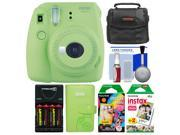 Fujifilm Instax Mini 9 Instant Film Camera (Lime Green) with Photo Album + 20 Twin & 10 Rainbow Prints + Case + Batteries & Charger + Kit