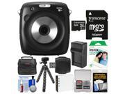 Fujifilm Instax Square SQ10 Hybrid Instant Film & Digital Camera with 32GB Card + 10 Color Prints + Case + Battery & Charger + Tripod + Kit