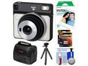 Fujifilm Instax Square SQ6 Instant Film Camera (Pearl White) with 10 Prints + Case + Tripod + Batteries Kit