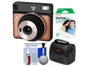 Fujifilm Instax Square SQ6 Instant Film Camera (Blush Gold) with 10 Prints + Case + Kit