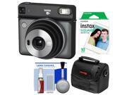 Fujifilm Instax Square SQ6 Instant Film Camera (Graphite Gray) with 10 Prints + Case + Kit
