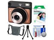 Fujifilm Instax Square SQ6 Instant Film Camera (Blush Gold) with 10 Prints + Case + Tripod + Kit