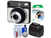 Fujifilm Instax Square SQ6 Instant Film Camera (Pearl White) with 10 Prints + Case + Kit