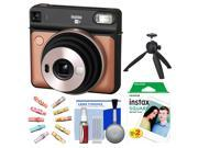 Fujifilm Instax Square SQ6 Instant Film Camera (Blush Gold) with 20 Prints + Wood Pegs + Tripod + Kit