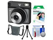 Fujifilm Instax Square SQ6 Instant Film Camera (Graphite Gray) with 10 Prints + Case + Tripod + Kit