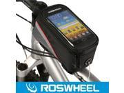 Netspower ® Roswheel Bicycle Bike Cycling Frame Pannier Pouch Bag Front Tube Cellphone Holder with clear PVC Screen 5.5''