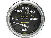 Auto Meter 4848 Carbon Fiber; Electric Oil Temperature Gauge