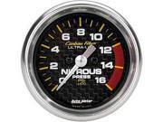 Auto Meter 4774 Carbon Fiber Electric Nitrous Pressure Gauge