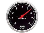 Auto Meter 1499 Designer Black Street Rod Tachometer