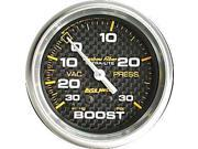 Auto Meter Carbon Fiber Mechanical Boost/Vacuum Gauge
