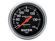 Auto Meter 3431-M Sport-Comp Mechanical Metric Water Temperature Gauge