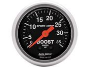 Auto Meter Sport-Comp Mechanical Boost Gauge