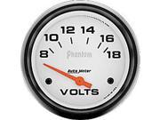 Auto Meter Phantom Electric Voltmeter Gauge