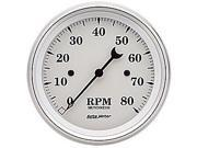 Auto Meter 1690 Old Tyme White&#59; Electric Tachometer