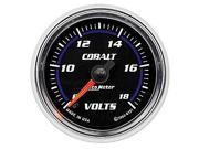 Auto Meter Cobalt Electric Voltmeter Gauge