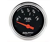Auto Meter 1423 Designer Black Fuel Level Gauge
