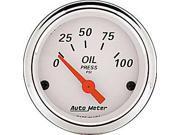 Image of Auto Meter Arctic White Oil Pressure Gauge