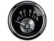 Auto Meter 2093 Prestige Series&#59; Black Diamond&#59; Voltmeter Gauge