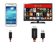 CyberTech 6.5 Feet MHL Micro USB to Hdmi 1080p Hdtv Adapter Cable for Samsung Galaxy S3 S4 S5 Note 2 Note 3 and Samsung Tablet Tab 3, Tab S, Tab Pro, Note Pro