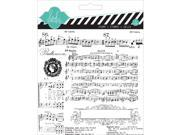 "Heidi Swapp Mixed Media Clear Stamps 5.5""X5.5""-Music Notes"