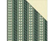 """Floral Delight Double-Sided Cardstock 12""""X12""""-Floral Stripe"""