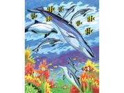 """Colour Pencil By Number Kit 8-3/4""""X11-3/4""""-Sea Animals"""