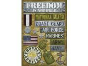 "Military Cardstock Stickers 5.5""X9""-Proudly Serving"