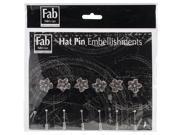 Silver Pin Embellishments 6/Pkg-Small Daisy