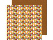 """Happy Camper Double-Sided Cardstock 12""""X12""""-Park Pennants"""