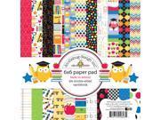 "Doodlebug Paper Pad 6""X6"" 24/Pkg-School"
