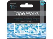 "Tape Works Accent Tape 3""X15ft-Blue Camo"