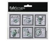 """Floral Delight Vinyl Stickers 3.75""""X5.5"""" -Aqua Stamps"""