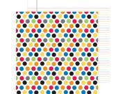 """School Double-Sided Cardstock 12""""X12""""-Primary Polka Dots"""