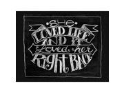 "Chalkboard Canvas Print 12""X15.75""-She Loved Life"