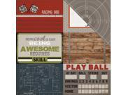 """Image of Work Hard Play Hard Double-Sided Cardstock 12""""X12""""-Journaling Cards 4""""X6"""""""