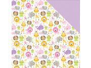 """Image of Sweet Baby Girl Double-Sided Cardstock 12""""X12""""-Sweet Safari"""