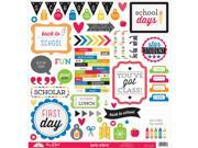 """School This & That Cardstock Stickers 12""""X12""""-Back To School"""