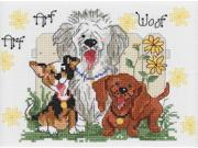 """Suzy's Zoo Dogs Of Duckport Mini Counted Cross Stitch Kit-7""""""""X5"""""""" 14 Count"""" 9SIV01U6YV1416"""