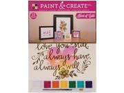 """Image of Paint & Create Watercolor Kit 11.5""""X15""""-Heart Of Gold W/Gold Foil"""