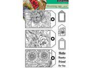 Penny Black PB30228 Penny Black Clear Stamps 5 in. x 7.5 in. Sheet Blooming Tags