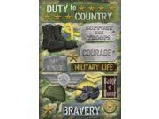 "Military Cardstock Stickers 5.5""X9""-Military Life"