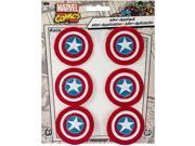 Patch - Marvel - Captain America shield Logo Set of 6 Iron On New p-mvl-0038-s 9SIA77T2UE4768