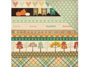 """Image of Fall Blessings Double-Sided Cardstock 12""""X12""""-Border Strips"""
