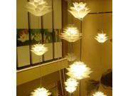 Excelvan®DIY Lotus Chandelier&IQ PP Pendant Lamp Suspension Ceiling Pendant For Christmas Living Room Bedroom Study Dining room Decor Lighting