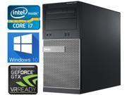 Dell OptiPlex 9010 MiniTower Gaming Desktop, Intel Quad-Core i7-3770 upto 3.90GHz, 1TB HDD, 3GB Nvidia GeForce GTX 1060 4K HDMI, 32GB RAM, WIFI, Windows 10 Pro