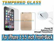 Premium HD Clear Tempered Glass Screen Protector for iphone 6 plus Protective Film (Front + back) 9SIA7N43490748