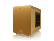RAIJINTEK METIS GOLD - Aluminum M-ITX Case, USB 3.0* 2, Compatible with Standard ATX Power supply, 170mm VGA Card length, 160mm CPU Cooler height, 120mm Performing Fan pre-installed, 7 colors option