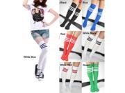 Soccer Baseball Football Basketball Sport Over Knee Ankle Men Women Socks With different colour stripe 7 colour for choice!